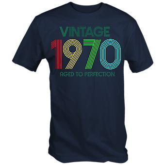Vintage 1970 aged to perfection 50th birthday t shirt fiftieth novelty gift retro