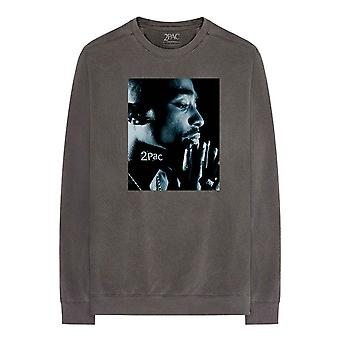 Tupac T Shirt Changes Side Photo Officiel À manches longues Charcoal Grey Unisex