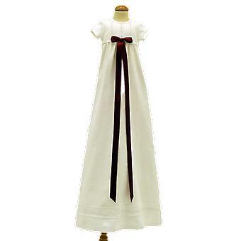 Dopklänning Grace Of Sweden, Kort ärm Med Vinröd Doprosett,   Tr.v.k