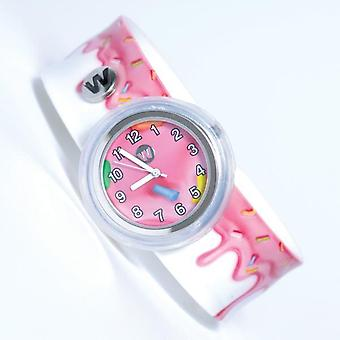 #345 - pink frosting - watchitude slap watch
