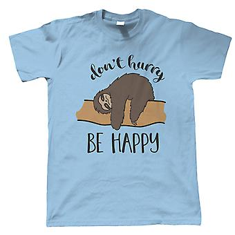 Sloth Be Happy, Mens T-Shirt - Animals Gift Him Dad