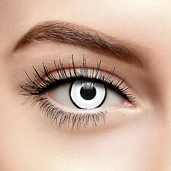 Lentes de contato cor de zumbi branco (Diariamente)