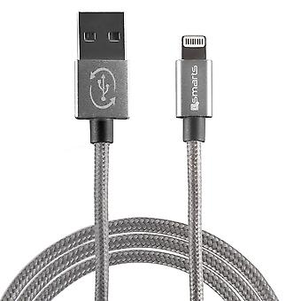 Usb Cable To Lightning Connector 2 Meter Grey