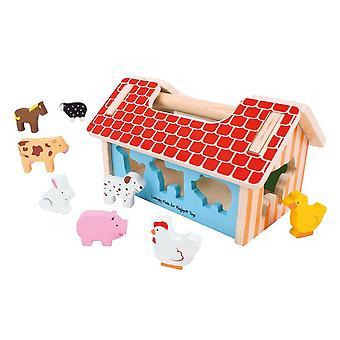Bigjigs Wooden Farmhouse Sorter