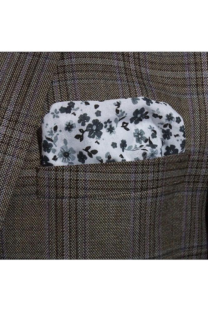 JSS Black Floral Cotton Pocket Square