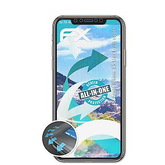 atFoliX 3x Protective Film compatible with Apple iPhone XS Max Front cover clear&flexible