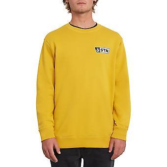 Volcom Supply Stone Crew Sweatshirt in Gold