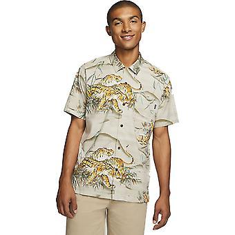 Hurley Tiger Style Short Sleeve Shirt in Khaki