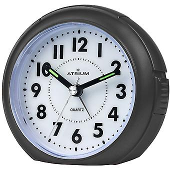 ATRIUM Alarm Clock Analog Quartz Black A240-7 without ticking with light large numbers