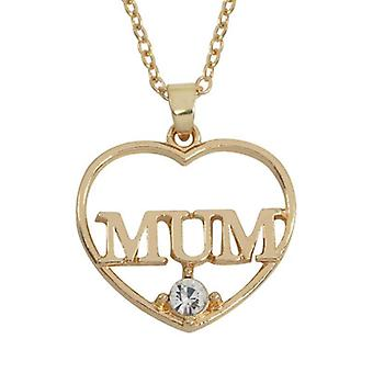 Heart shape mum necklace