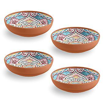 Epicurean Set of 4 Rio Corte Melamine Low Bowls