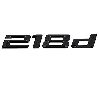 Gloss Black BMW 218d Car Model Rear Boot Number Letter Sticker Autocollant Autocollant Badge Emblem For 2 Series F22 F45 F46