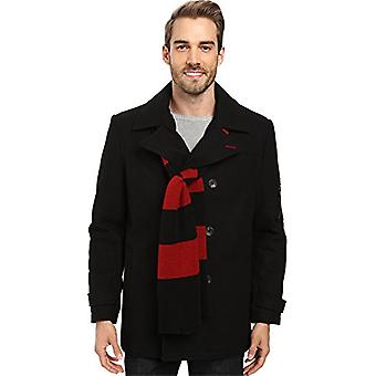 IZOD Men's Double Breasted Wool Peacoat, Black, XX-Large, Black, Size XX-Large