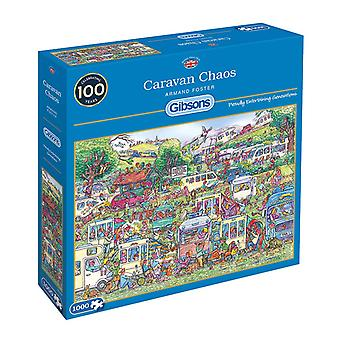 Gibsons Caravan Chaos Jigsaw Puzzle (1000 Pieces)