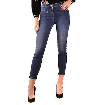 Elisabetta Franchi Ezbc050215 Women's Blue Cotton Jeans