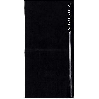 Quiksilver Linepack شاطئ منشفة باللون الأسود