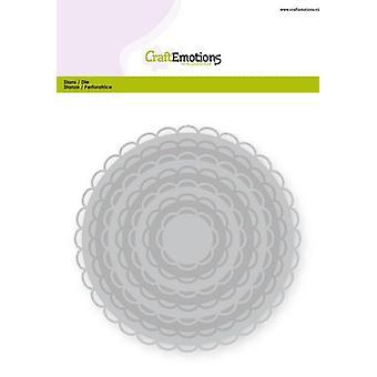 CraftEmotions Big Nesting Die - cercles scalop XL carte ouverte 150x160 3,6-13,0cm