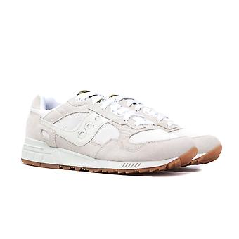Saucony Shadow 5000 Tan & White Suede Trainers