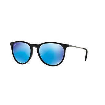 Ray-Ban Erika RB4171 601/55 Nero/Verde Chiaro Specchio Occhiali da sole blu