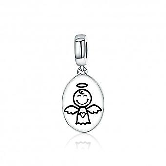 Sterling Silver Pendant Charm Guardian Angel - 5361