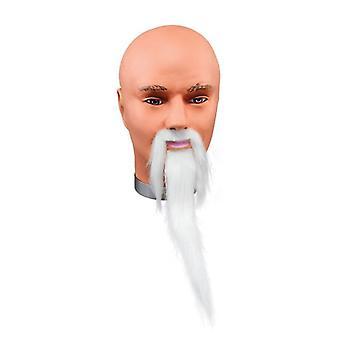 Wizard Beard + Tash. White