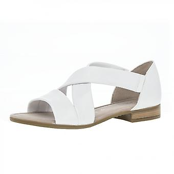 Gabor Sweetly Modern Closed Heel Wide Fit Sandals In White