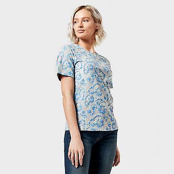 New Peter Storm Women's Angel Pattern T-Shirt Blue