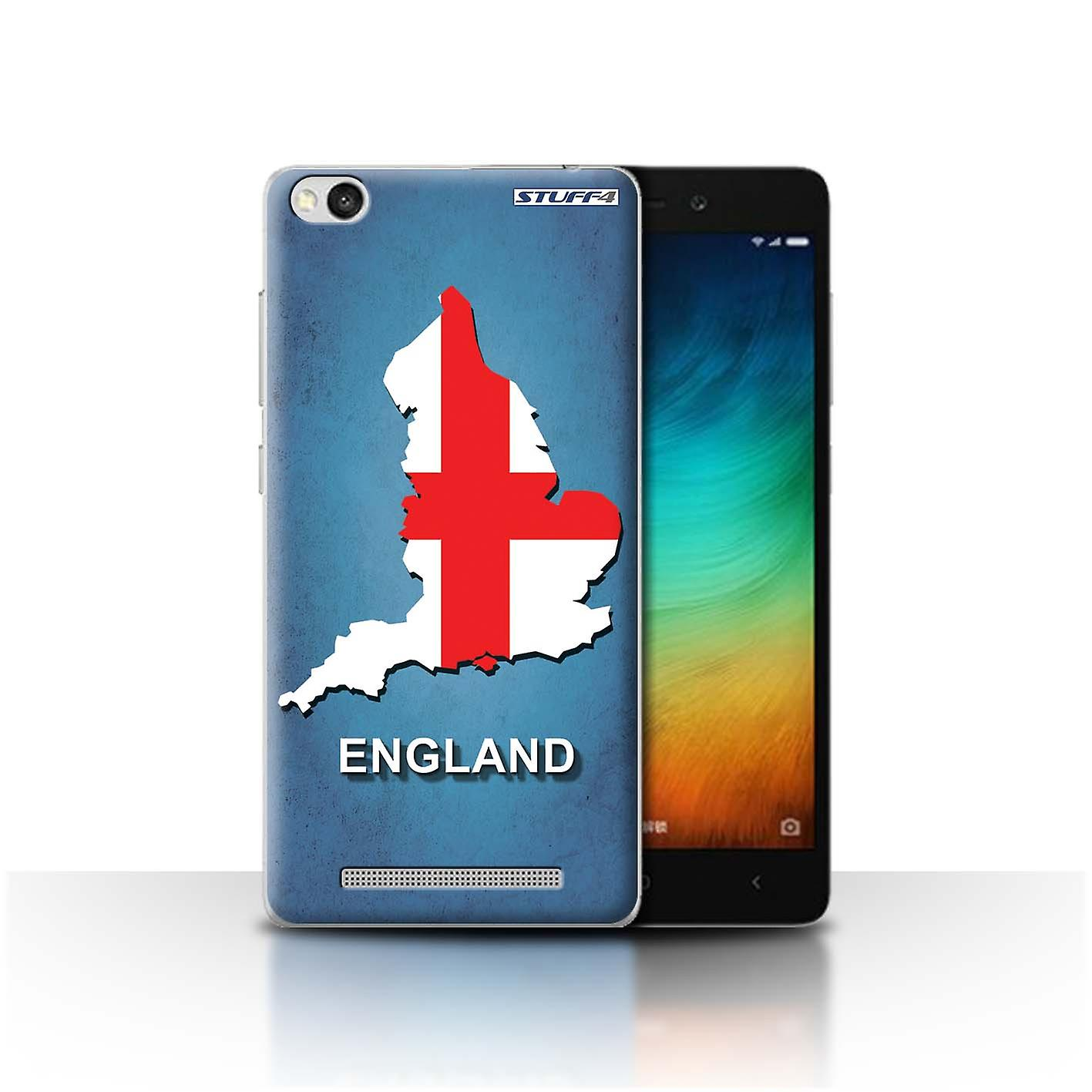 Stuff4 Case Cover For Xiaomi Redmi 3 England English Flag