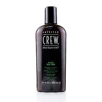 American Crew Men 3-az 1-ben Tea Tree sampon, kondicionáló és Testmosó 250ml/8.4 oz