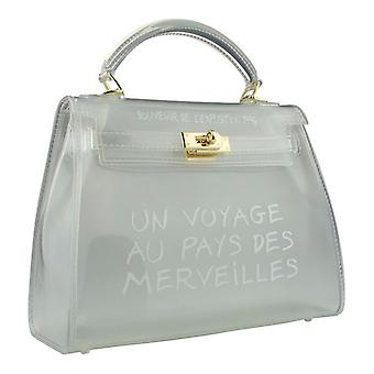 Transparent bag-translucent white