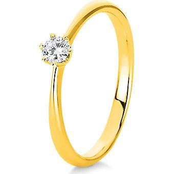 Bague diamant - 14K 585/- Or Jaune - 0,15 ct. - 1C478G452 - Largeur de l'anneau: 52