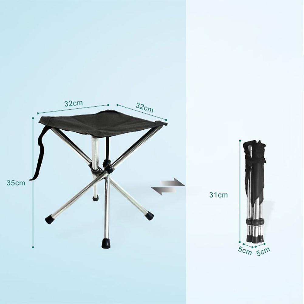 Outdoor portable triangle folding stool