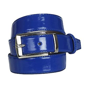 Boys Faux Leather Patent Blue Belt