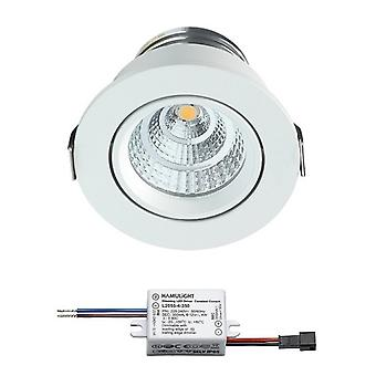 Sharp LED installation spot Grenade | blanc | blanc chaud | 4 watts | m dimmable | Inclinaison