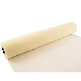 Ivory 53cm x 9.1m Deco Mesh Roll for Wreath Making, Floristry & Crafts