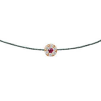 Choker Duchess Ruby 18K Gold and Diamonds, on Thread - Rose Gold, Pine Tree