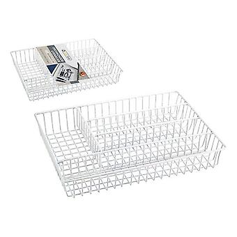 Cutlery Organisateur Confortime Metal White (36 X 26 x 4,5 cm)