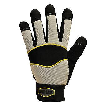 Polyco MT5/10 Multi-Task 5 Synthetic Leathers with PVC Inner Palm Gloves 10