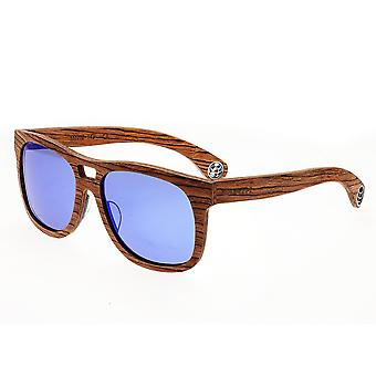 Earth Wood Las Islas Polarized Sunglasses - Red-Rosewood/Purple-Blue