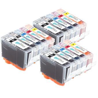 3 5 mustekasettia Korvaamaan Canon SGI-5 & CLI-8 Yhteensopiva/muu kuin OEM Go Inksistä (15 mustetta)