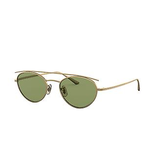 Oliver Peoples Hightree OV1258ST 528452 Antique Gold/Green Crystal Sunglasses
