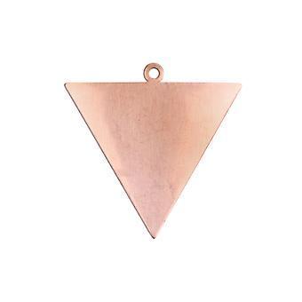 Kupfer Blanks Dreieck Pack von 6 35mm X 0,9 mm umgekehrtes Dreieck