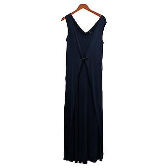 G.I.L.I. got it love it Jumpsuits V-neckline with inset Sleeveless Blue
