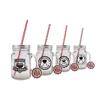 CGB Giftware Dads BBQ Drinking Jars