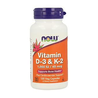 Vitamin D-3 & K-2 120 grönsakskapslar