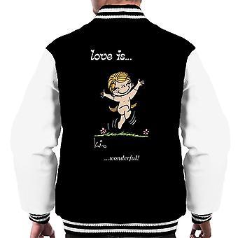 Love Is Wonderful Men's Varsity Jacket