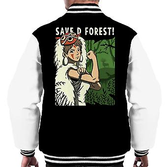 Prinzessin Mononoke speichern den Wald Rosie Riveter Parodie Männer's Varsity Jacke