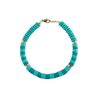 Bracelet Gemshine Couleurs de l'eau Turquoise - Vert Heishi - Made in Germany