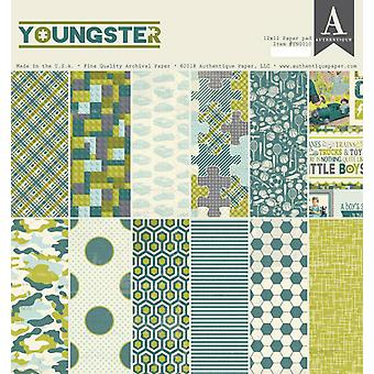 Authentique Youngster 12x12 pulgadas de papel Pad