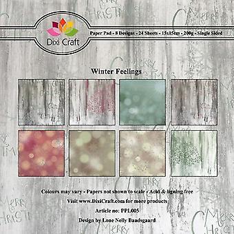 Dixi Craft Winter Feelings 6x6 Inch Paper Pad